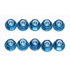 FT 3mm (M3) Locknut, blue aluminum (10)
